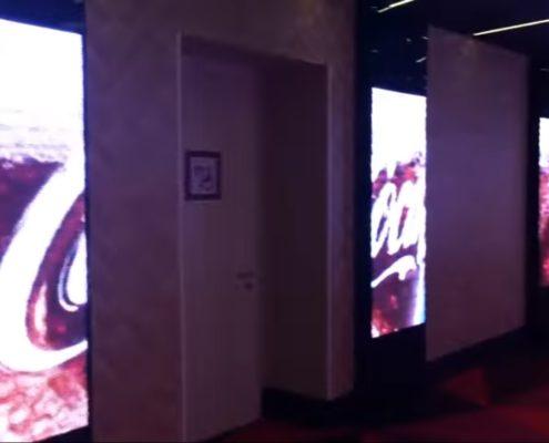большой медиаэкран в фае кинотеатра