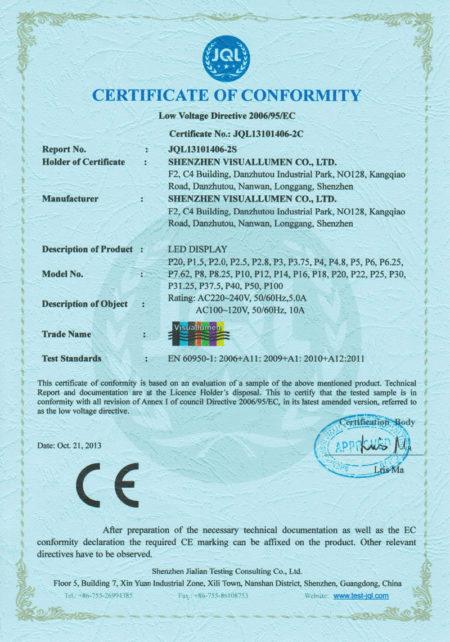 сертификат на led продукцию выданный производителю