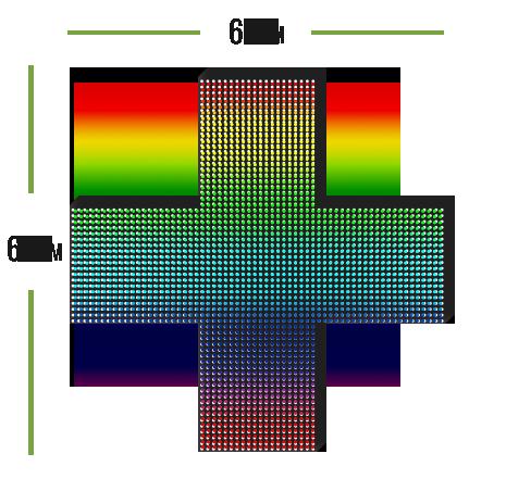 аптечный led крест