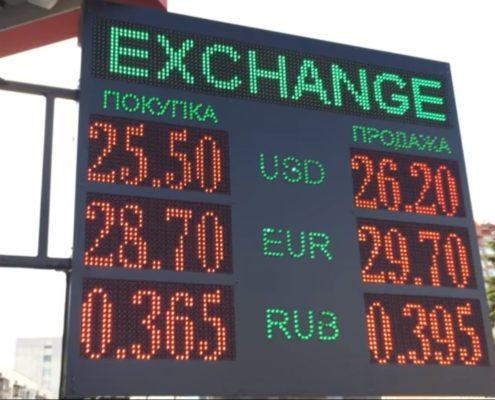 табло обмена валют от светосила
