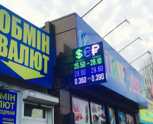 наружное табло обмена валют киев